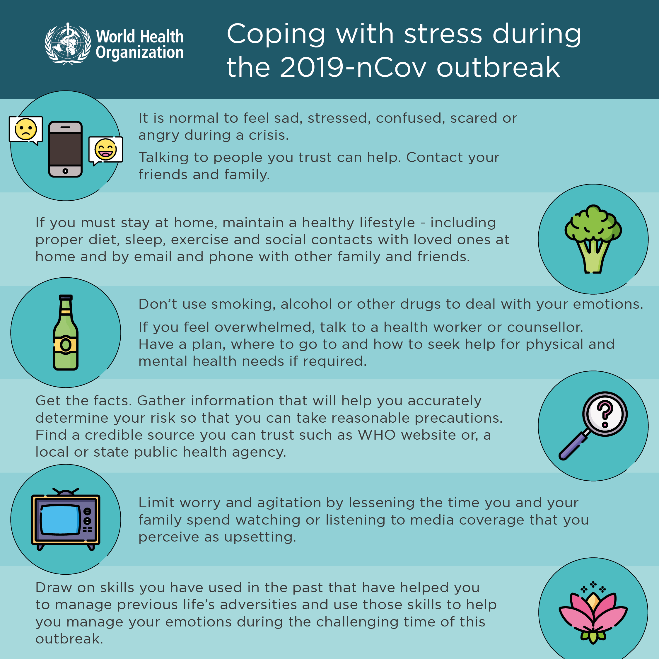 Coping with Stress during COVID 19 outbreak